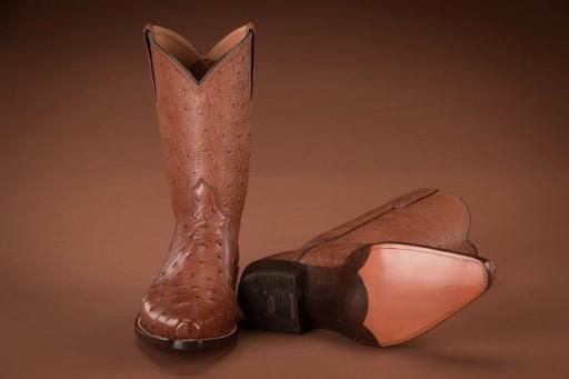 Kanga tabac full ostrich boot