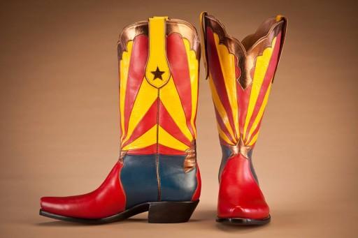 Arizona flag themed boot