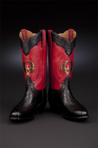 Red-and-Black exotic boot