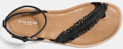 Coach Leather Beach Feather Sandals, $129 (was $185)