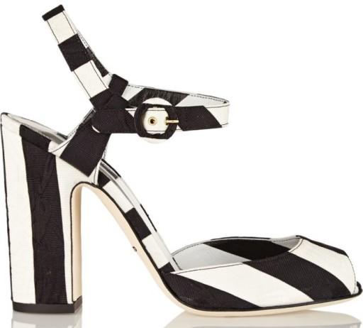 Dolce & Gabbana Stripe Brocade Sandals, $237.50 (was $475)