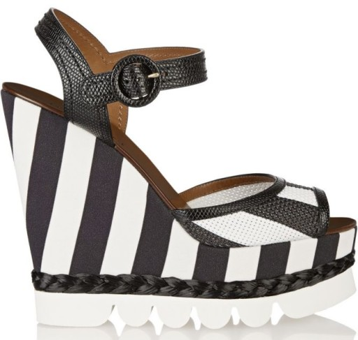 Dolce & Gabbana Striped Leather Wedges, $398 (was $995)