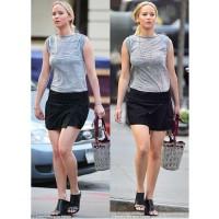 Jennifer Lawrence in Various Designer Footwear