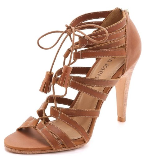 Ulla Johnson Allegra Lace Up Sandals, $450