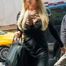 Jessica Simpson in Risqué Black Dress and Patent Sandal