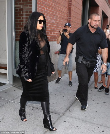 Kim Kardashian Wedge Boots 2015 1
