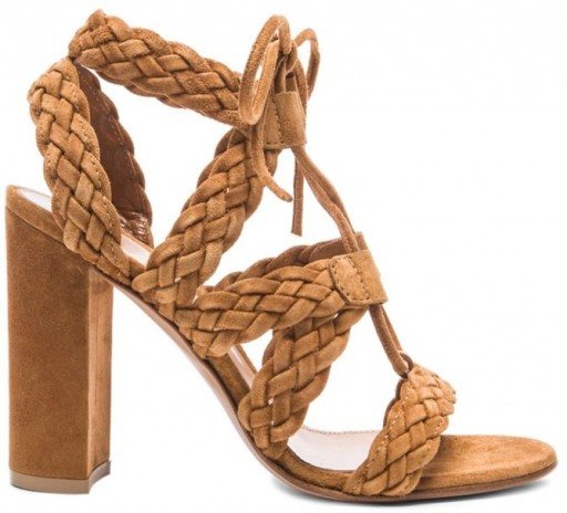 Gianvito Rossi Jimi Braided Lace Up Sandals