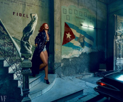 Rihanna visits Cuba for her latest project as the cover model for Vanity Fair's latest issue